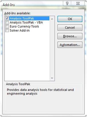 Regression Data Analysis Tool In Microsoft Excel   Microsoft