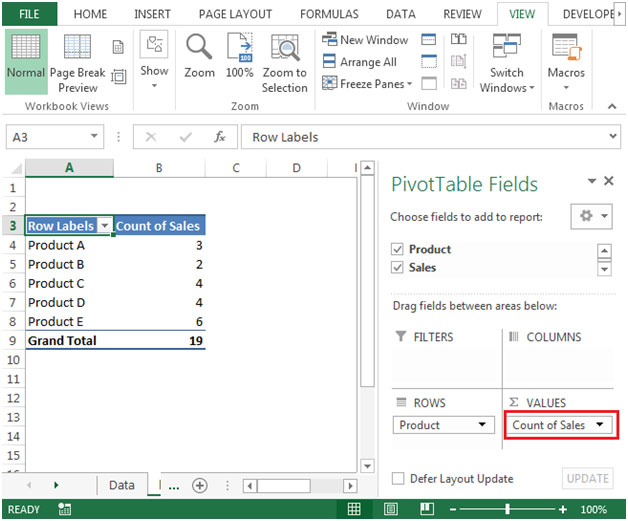 Formatting a value field in pivot tables in microsoft for Html table formatting