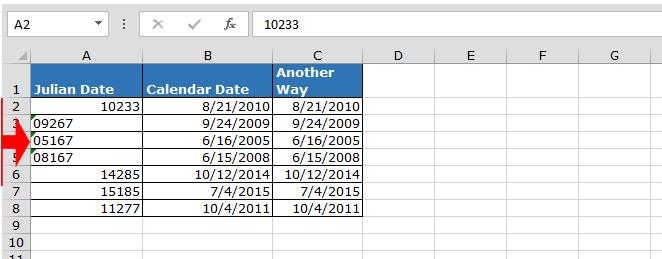 Convert Julian Date to a Calendar Date in Microsoft Excel ...