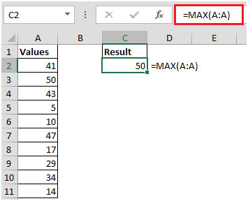 How To Find Cell Address Of The Maximum Value In A Column In