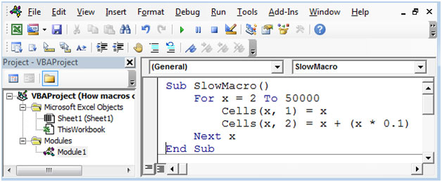 how to run macros root