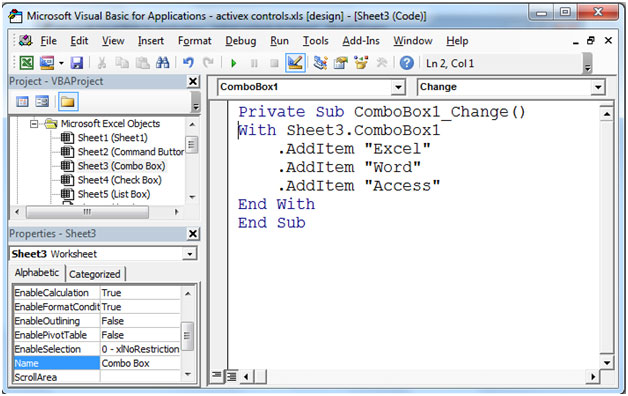 ActiveX Controls in Microsoft Excel   Microsoft Excel Tips from ...