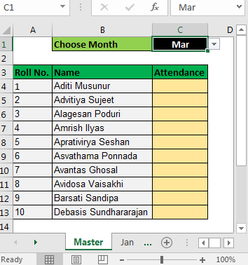 Select From Drop Down And Pull Data From Different Sheet in