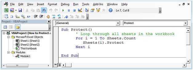how to unlock excel sheet vba