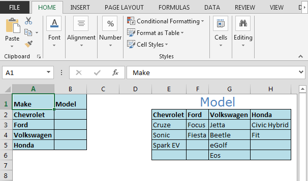 how to create dynamic drop down list based on name range in microsoft excel tips. Black Bedroom Furniture Sets. Home Design Ideas