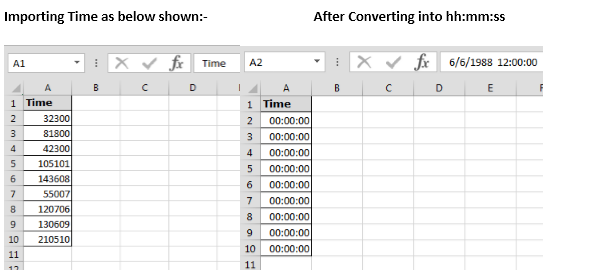 Text To Time Conversion In Microsoft Excel