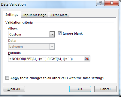 Custom Data Validation 2