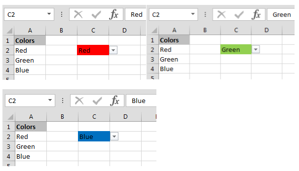Create Drop Down List In Excel With Color Tips