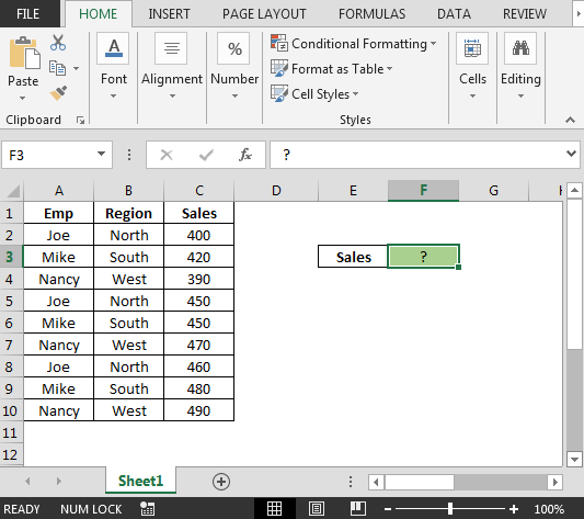 Using a Blank cell as a Criteria in Excel Sumifs