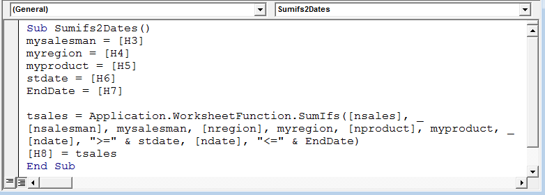 SUMIF Function With Multiple Criteria using VBA in Microsoft ...