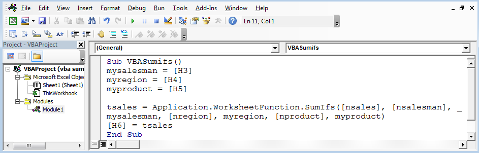 SUMIF Function With Multiple Criteria using VBA in Microsoft Excel ...