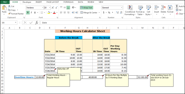 calculate payroll hours