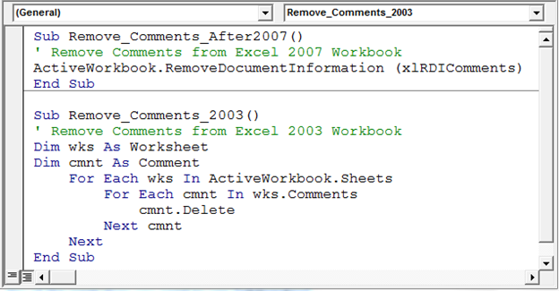 how to delete all comments in excel