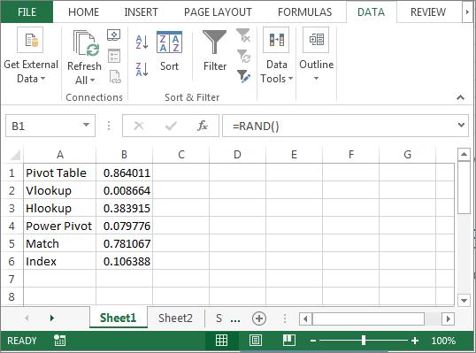 Randomize List in Microsoft Excel