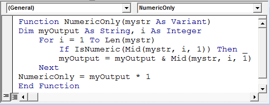 Regex numbers only vba download