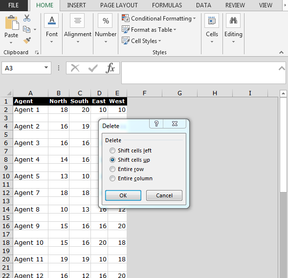 excel vba delete blank cells in range how to remove blank or empty rows in excel print only
