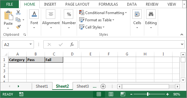 Count Cells through Excel VBA