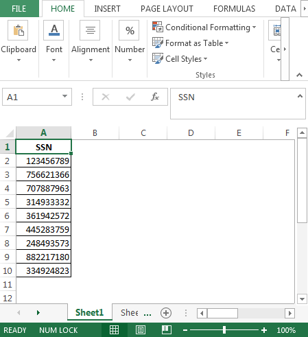 vba – format numbers as social security numbers | formating in vba