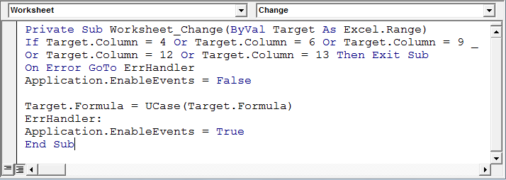 excel vba application.enableevents not working