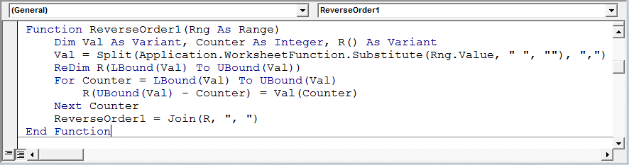 How to get Text & Number in Reverse through VBA in Microsoft Excel | VBA