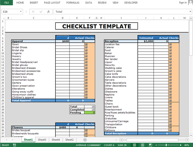 how to use checkboxes to create checklist template in excel microsoft excel tips from excel. Black Bedroom Furniture Sets. Home Design Ideas