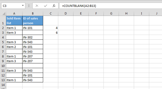 How To Count Blank And Non Blank Cells In Microsoft Excel