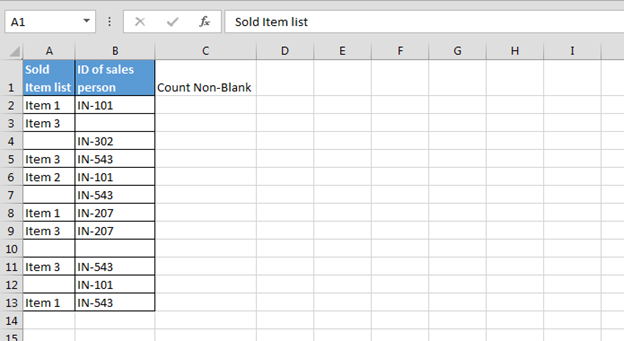 how to fill all cell to create pivot table
