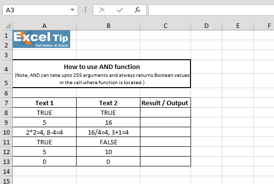 excel logical functions with examples pdf