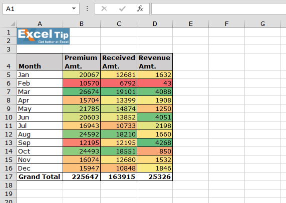 how to make excel cells change colors automatically