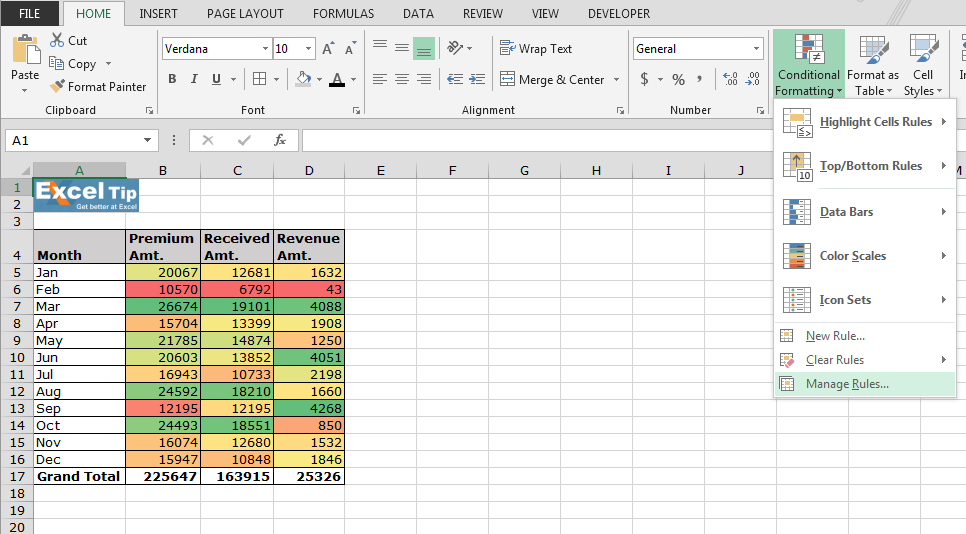 conditional formatting how to make colored rows