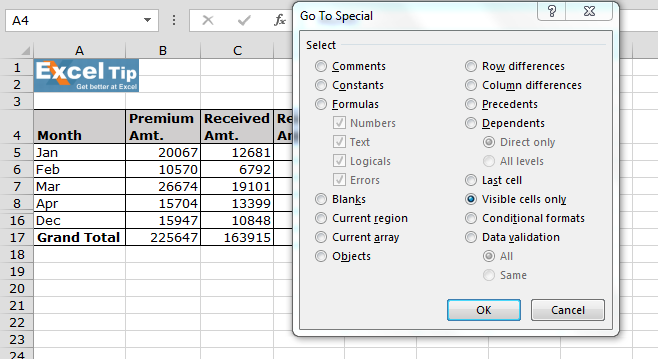 how to add selected cells in excel