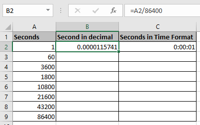 Excel Convert Decimal Seconds Into Time