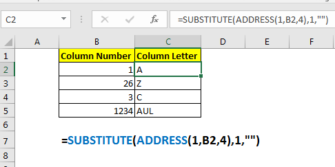How to Convert Excel Column Number To Letter