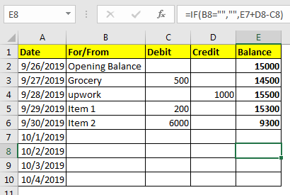How To Make Excel Check Register