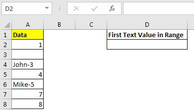 LOOKUP the First Text from a List
