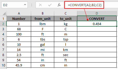 How To Use The Convert Function In Excel