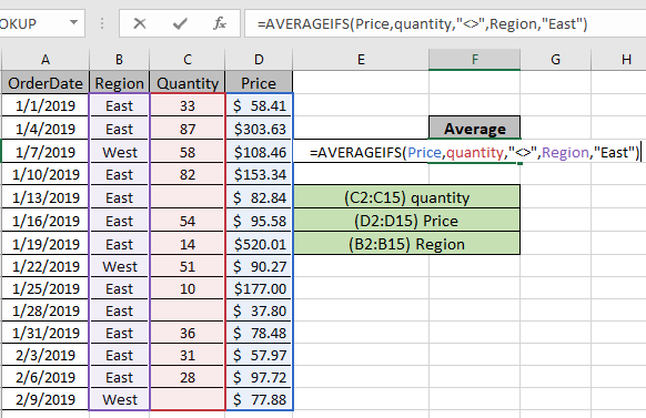 Average Numbers If Not Blank In Excel